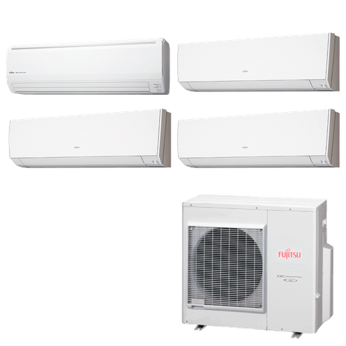 Ar Condicionado Multi Split Inverter Fujitsu 35.000 BTUs (3x Evap HW 9.000 + 1x Evap HW 18.000) Quente/Frio 220V