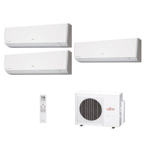 Ar Condicionado Multi-Split Inverter Fujitsu 2x 7.000 BTUs + 1x 12.000 BTUs Quente/Frio 220V