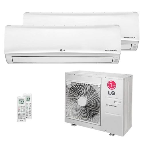 Ar Condicionado Multi Split Inverter LG 30.000 BTUs (1x Evap HW 12.300 + 1x Evap HW 24.200) Quente/Frio 220V