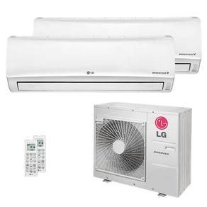 Ar Condicionado Multi Split Inverter LG 30.000 BTUs (1x Evap HW 12.300 + 1x Evap HW 19.100) Quente/Frio 220V