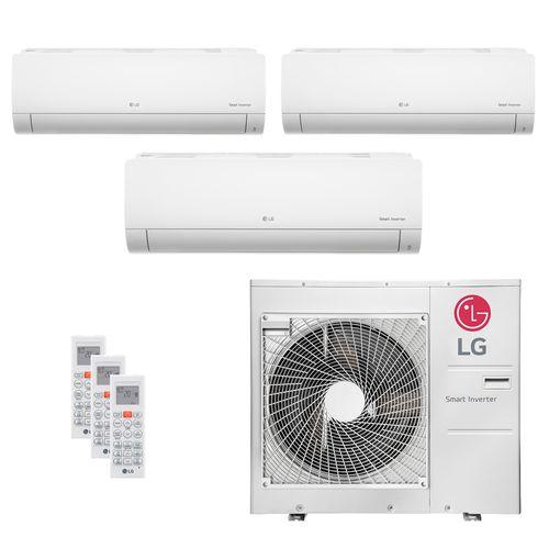 Ar Condicionado Multi Split Inverter LG 30.000 BTUs (2x Evap HW 8.500 + 1x Evap HW 11.900) Quente/Frio 220V