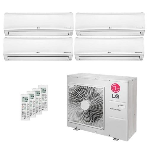 Ar Condicionado Multi Split Inverter LG 30.000 BTUs (4x Evap HW 12.300) Quente/Frio 220V
