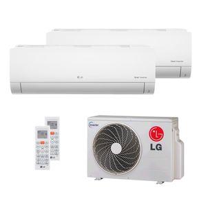 Ar Condicionado Multi Split Inverter LG 18.000 BTUs (2x Evap HW 8.500) Quente/Frio 220V