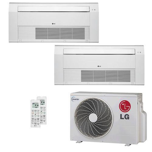 Ar Condicionado Multi Split LG 16.000 BTUs (2x Evap Cassete 1 Via 9.600) Quente/Frio 220V