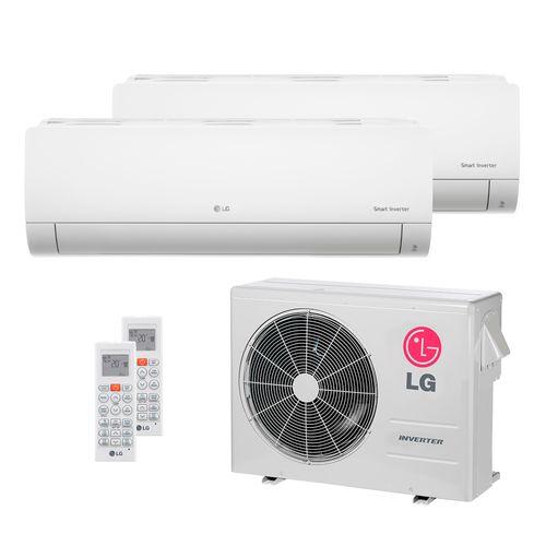 Ar Condicionado Multi Split Inverter LG 24.000 BTUs (1x Evap HW 8.500 + 1x Evap HW 17.100) Quente/Frio 220V