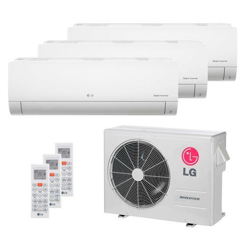 Ar Condicionado Multi Split Inverter LG 24.000 BTUs (2x Evap HW 8.500 + 1x Evap HW 11.900) Quente/Frio 220V
