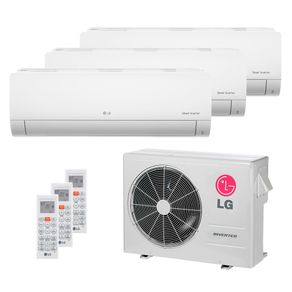 Ar Condicionado Multi Split Inverter LG 24.000 BTUs (3x Evap HW 8.500) Quente/Frio 220V