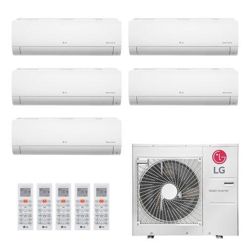 Ar Condicionado Multi Split Inverter LG 36.000 BTUs (4x Evap HW 8.500 + 1x Evap HW 11.900) Quente/Frio 220V
