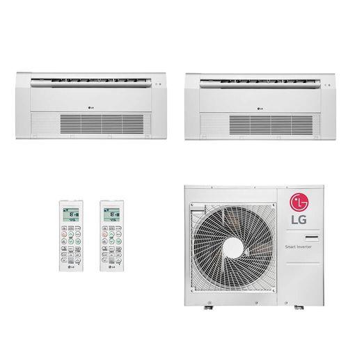 Ar Condicionado Multi Split Inverter LG 36.000 BTUs (2x Evap Cassete 1 Via 18.000) Quente/Frio 220V