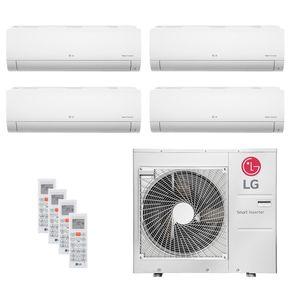 Ar Condicionado Multi Split Inverter LG 30.000 BTUs (4x Evap HW 11.900) Quente/Frio 220V