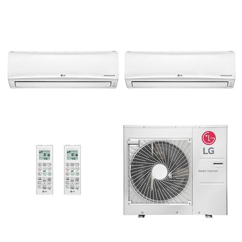 Ar Condicionado Multi Split Inverter LG 36.000 BTUs (2x Evap HW 24.200) Quente/Frio 220V