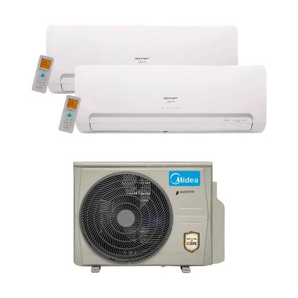Ar Condicionado Multi Split Inverter Springer Midea 18.000 Btus (1x Evap. HW 9.000 + 1x Evap. HW 12.000) Quente e Frio 220v