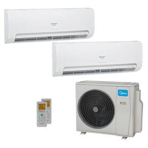 Ar Condicionado Multi Split Inverter Springer Midea 18.000 BTUs (2x Evap HW 9.000) Quente/Frio 220V