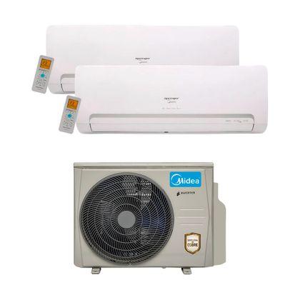 Ar Condicionado Multi Split Inverter Springer Midea 18.000 Btus (2x Evap. HW 12.000) Quente e Frio 220v