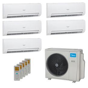 Ar Condicionado Multi Split Inverter Springer Midea 42.000 BTUs (5x Evap HW 9.000) Quente/Frio 220V
