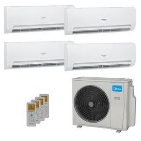 Ar Condicionado Multi Split Inverter Springer Midea 36.000 BTUs (4x Evap HW 9.000) Quente/Frio 220V