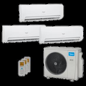 Ar Condicionado Multi Split Inverter Springer Midea 27.000 BTUs (3x Evap HW 9.000) Quente/Frio 220V