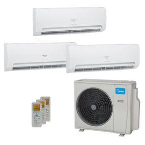 Ar Condicionado Multi Split Inverter Springer Midea 27.000 BTUs (2x Evap HW 9.000 + 1x Evap HW 12.000) Quente/Frio 220V