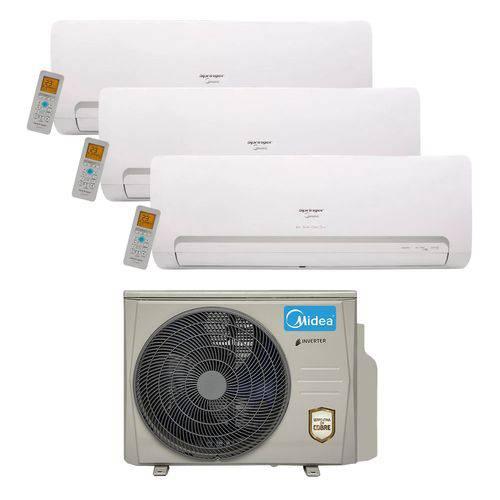 Ar Condicionado Multi Split Inverter Springer Midea 27.000 Btus (3x Evap. HW 9.000) Quente e Frio 220v