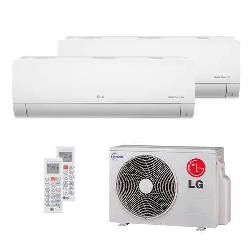 Ar Condicionado Multi Split Lg 16.000 BTUs (2x Evap Hw 11.900) Quente/Frio 220V