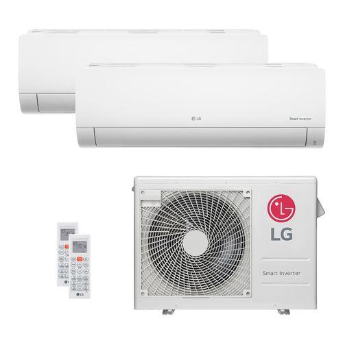 Ar Condicionado Multi Split LG 24.000 BTUs (1x Evap HW 11.900 + 1x Evap HW 17.100) Quente/Frio 220V