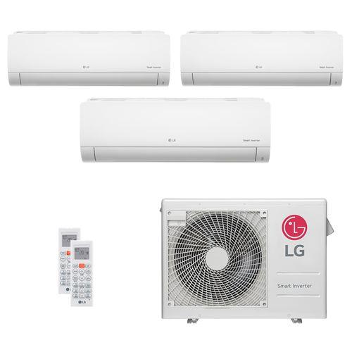 Ar Condicionado Multi Split LG 24.000 BTUs (2x Evap HW 7.200 + 1x Evap HW 8.500) Quente/Frio 220V