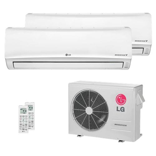 Ar Condicionado Multi Split LG 24.000 BTUs (2x Evap HW 19.100) Quente/Frio 220V