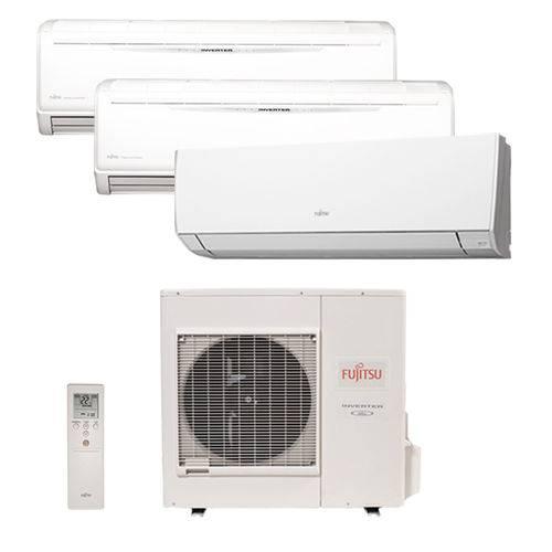 Ar Condicionado Multi Tri Split Inverter Fujitsu 1x12000 2x18000 Btus Qf 220v 1F AOBG36LBTA4