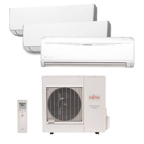 Ar Condicionado Multi Tri Split Inverter Fujitsu 2x12000+1x24000 Btus Qf 220v 1F AOBG36LBTA4