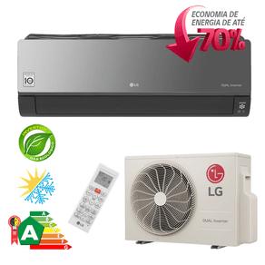Ar Condicionado Split Hi-Wall LG DUAL Inverter Artcool Econômico 22.000 Btu/h Quente/ Frio 220V