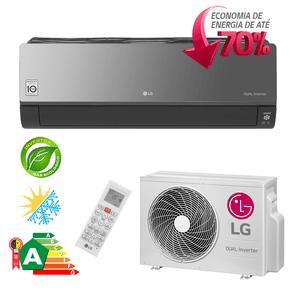 Ar Condicionado Split Hi-Wall LG DUAL Inverter Artcool Econômico 18.000 Btu/h Quente/ Frio 220V