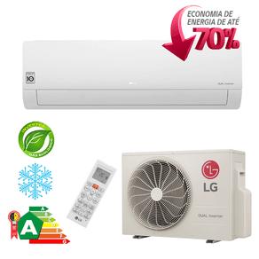 Ar Condicionado Split Hi-Wall LG DUAL Inverter Econômico 22.000 Btu/h Frio 220V - S4-Q24K23WD