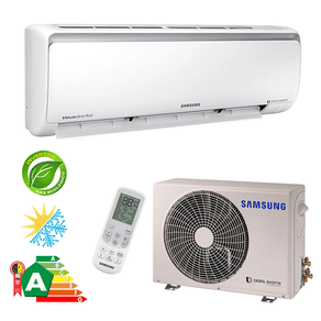 Ar Condicionado Split Hi-Wall Samsung Digital Inverter 09.000 BTU/h Quente/Frio 220V - 8 Polos AR09MSSPBGMNAZ