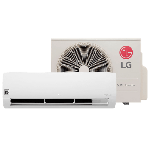 Ar-Condicionado Split LG, 12.000Btus, Dual Inverter, Frio, Branco - S4-Q12JA3WC