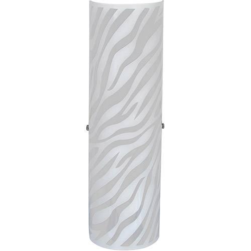 Arandela Venus Zebra Grande Metal/Vidro Branco - Attena