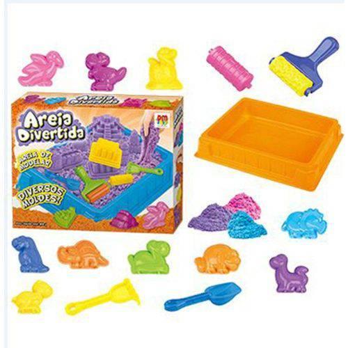 Areia Divertida Dinossauros Dm Toys