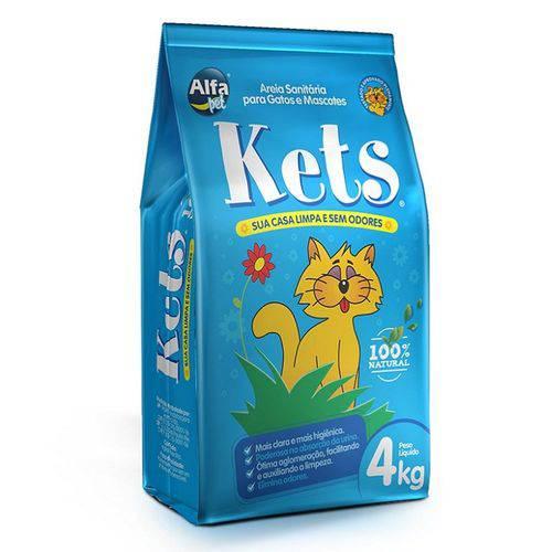 Areia Higiênica Alfa Pet Kets para Gatos 4kg
