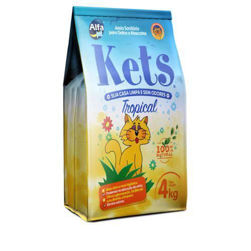 Areia Higienica para Gatos 4kg - Kets Tropical