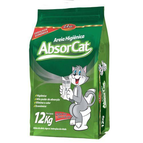 Areia Higienica para Gatos Absorcat - 12 Kg