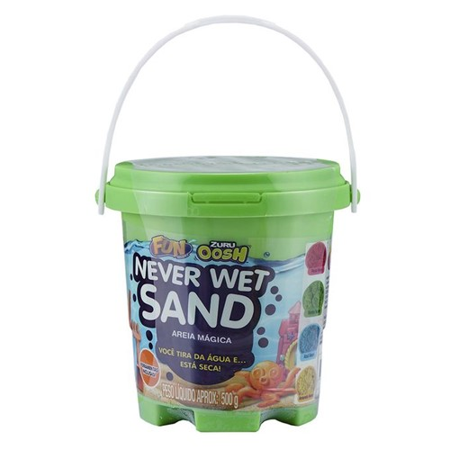 Areia Mágica - Never Wet Sand - Verde Neon - Fun - FUN