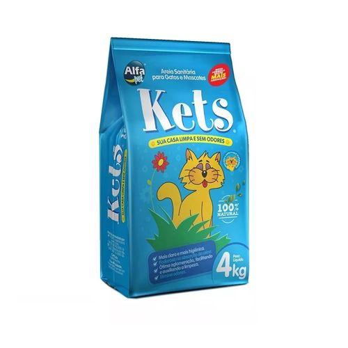 Areia Sanitária Alfa Pet Kets para Gatos e Mascotes 4kg + 250g