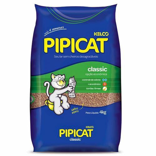 Areia Sanitária Kelco Pipicat Classic para Gatos 4Kg