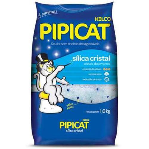 Areia Sanitária Sílica Cristal Pipicat - 3,5 Kg