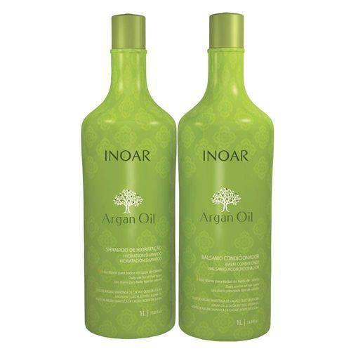 Argan Oil Inoar - Kit Shampoo 1l + Condicionador 1l Kit
