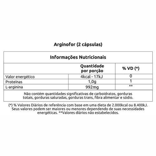 Arginofor - 60 Cápsulas Vitafor
