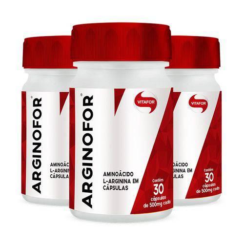 Arginofor L-Arginina - 3 Un de 30 Cápsulas - Vitafor