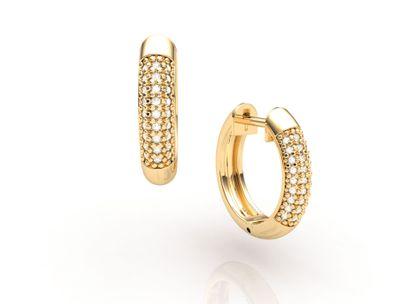 Argolas de Ouro com Diamantes Ouro Amarelo