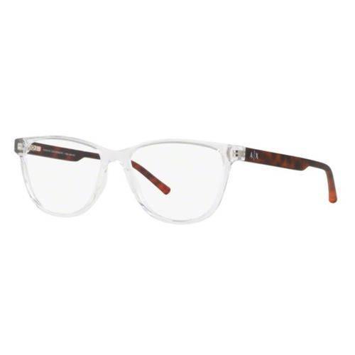 Armação Oculos Grau Armani Exchange Ax3047 8235 Transparente Marrom