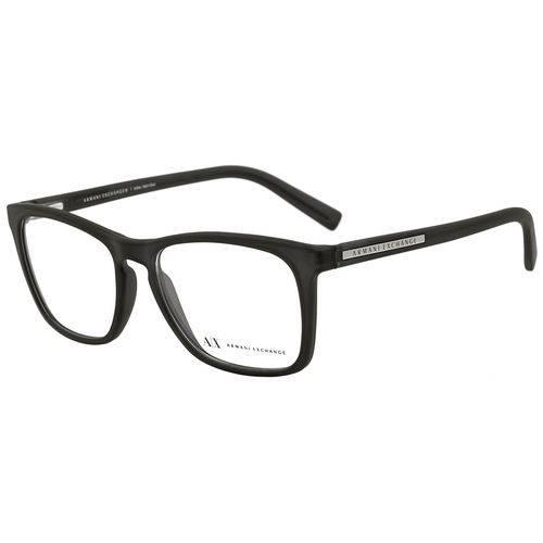 Armani Exchange Ax 3012l 8020 Preto Fosco T54 Óculos de Grau