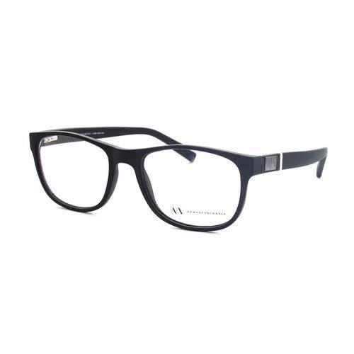 Armani Exchange Ax 3034l 8078 Preto Fosco T54 Óculos de Grau